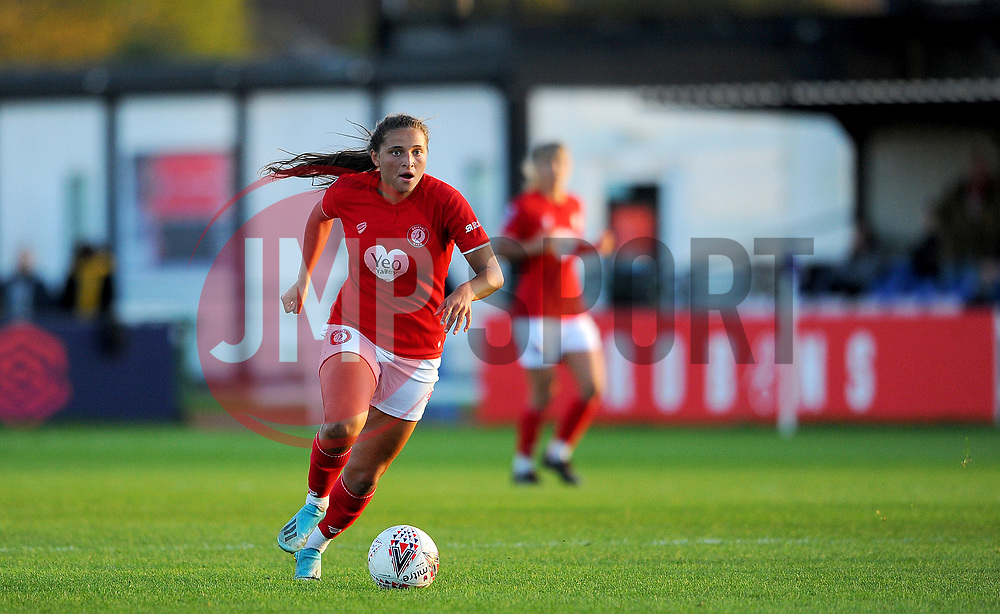 Abi Harrison of Bristol City in action- Mandatory by-line: Nizaam Jones/JMP - 27/10/2019 - FOOTBALL - Stoke Gifford Stadium - Bristol, England - Bristol City Women v Tottenham Hotspur Women - Barclays FA Women's Super League