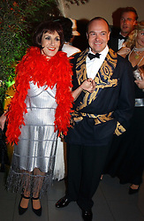 Actress LESLEY JOSEPH and  at Andy & Patti Wong's Chinese New Year party to celebrate the year of the Rooster held at the Great Eastern Hotel, Liverpool Street, London on 29th January 2005.  Guests were invited to dress in 1920's Shanghai fashion.<br /><br />NON EXCLUSIVE - WORLD RIGHTS