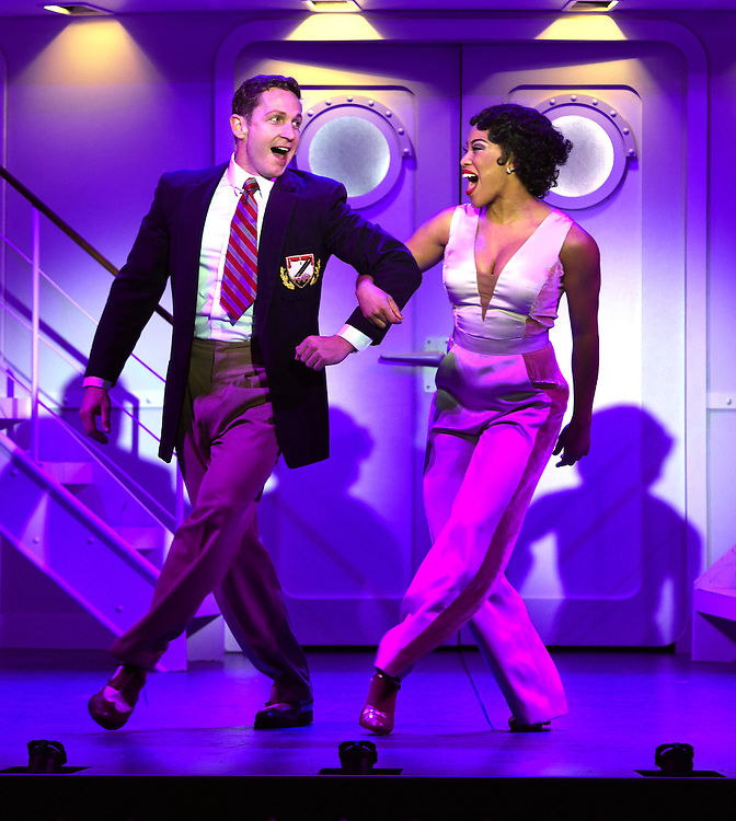 April 7, 2016, East Haddam, CT<br /> Mara Lavitt -- Special to the Hartford Courant<br /> The run-through of  the classic Cole Porter musical &quot;Anything Goes&quot; being performed at Goodspeed Musicals in East Haddam. David Harris as Billy Crocker and Rashidra Scott as Reno Sweeney.