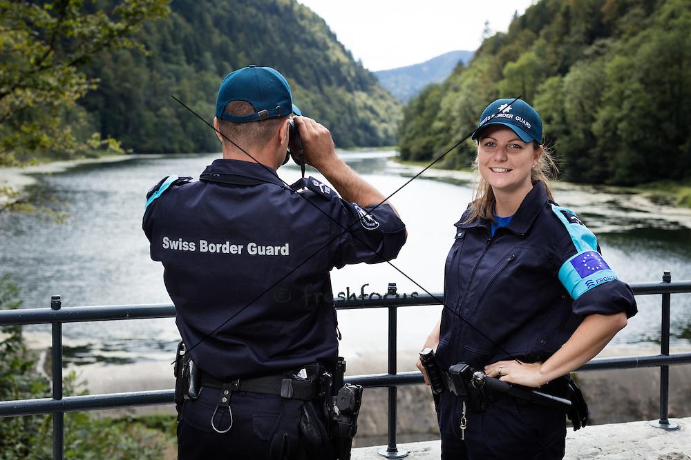 04.09.2015; Saignelegier; GWK Frontex Einsatz (Raphael Huenerfauth und Urs Lindt/freshfocus)