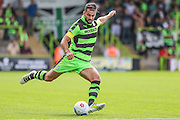 Forest Green Rovers Aarran Racine (21) during the Vanarama National League match between Forest Green Rovers and Gateshead at the New Lawn, Forest Green, United Kingdom on 13 August 2016. Photo by Shane Healey.