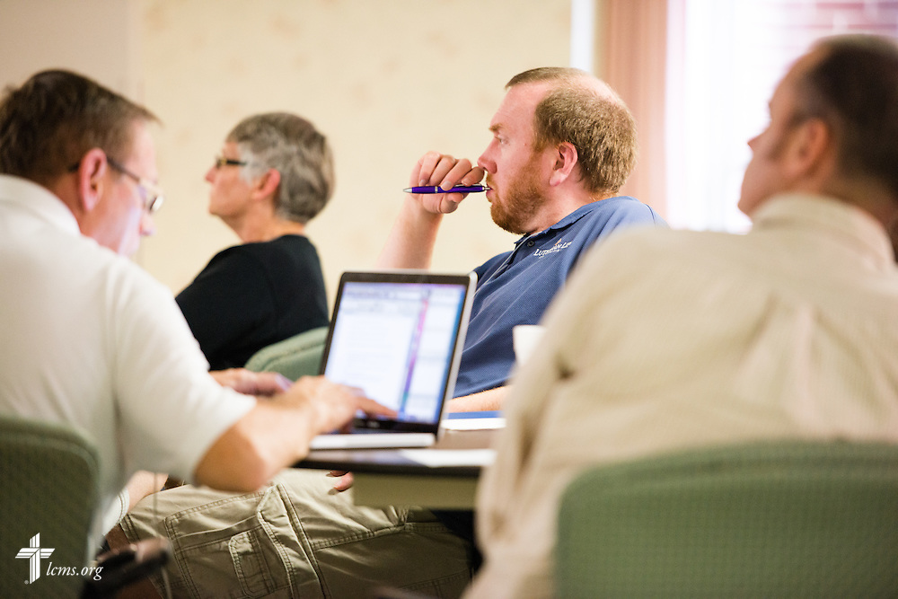 Chaplains listen to a presentation on Tuesday, Oct. 28, 2014, at the LCMS Specialized Pastoral Ministry Educational Event and Retreat at the Mercy Conference and Retreat Center in Frontenac, Mo. LCMS Communications/Erik M. Lunsford