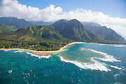 Haena Beach, North Shore, Kauai, aerial