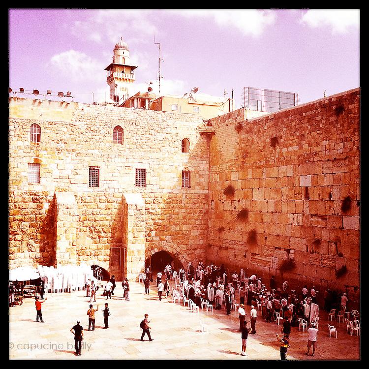 Jerusalem, Israel. September 20th 2011.The men side of the Western Wall..