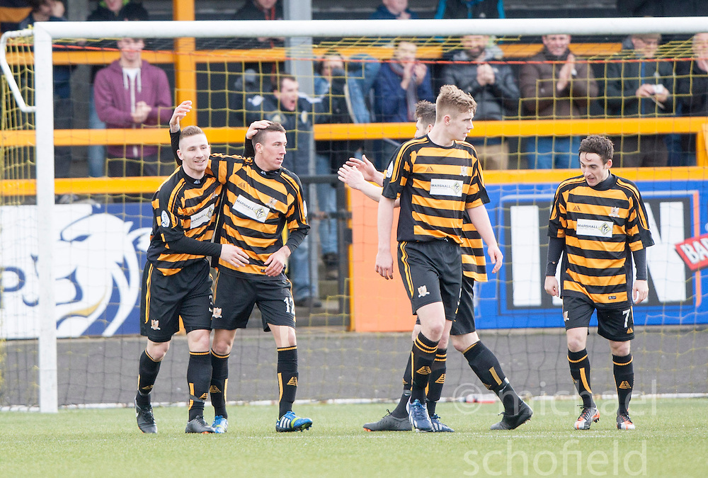 Alloa Athletic 3 v 0 Falkirk, Scottish Championship game played today at Alloa Athletic's home ground, Recreation Park.<br /> &copy; Michael Schofield.