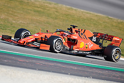 February 28, 2019 - Montmelo, BARCELONA, Spain - Charles Leclerc (Scuderia Ferrari Mission Winnow) SF90 car, seen in action during the winter testing days at the Circuit de Catalunya in Montmelo (Catalonia), Thursday, February 28, 2019. (Credit Image: © AFP7 via ZUMA Wire)