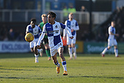 Bristol Rovers Kyle Bennett (26) on the ball during the EFL Sky Bet League 1 match between Bristol Rovers and Scunthorpe United at the Memorial Stadium, Bristol, England on 24 February 2018. Picture by Gary Learmonth.