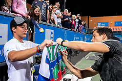 Winner Aljaz Bedene of Slovenia with fans after the Final match at Day 10 of ATP Challenger Zavarovalnica Sava Slovenia Open 2019, on August 18, 2019 in Sports centre, Portoroz/Portorose, Slovenia. Photo by Vid Ponikvar / Sportida