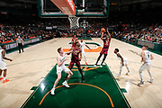 January 27, 2019: Trent Forrest #3 of Florida State in action during the NCAA basketball game between the Miami Hurricanes and the Florida State Seminoles in Coral Gables, Florida. The Seminoles defeated the 'Canes 78-66.