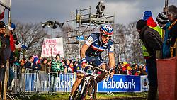 Francis MOUREY (20,FRA) 2nd lap at Men UCI CX World Championships - Hoogerheide, The Netherlands - 2nd February 2014 - Photo by Pim Nijland / Peloton Photos