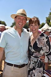 Dame Darcey Bussell and Angus Forbes at the 'Cartier Style et Luxe' enclosure during the Goodwood Festival of Speed, Goodwood House, West Sussex, England. 15 July 2018.