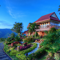 A luxury rest house 2000ft atop Mount Apo nearby Davao City in the province of Mindanao in the Philippines