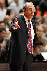20.03.2014, Palacio de los Deportes, Madrid, ESP, Basketball EL, Real Madrid vs CSKA Moskau, Gruppe F, im Bild CSKA Moscow's coach Ettore Messina // CSKA Moscow's coach Ettore Messina during the group F Basketball Euroleague between Real Madrid and CSKA Moscow at the Palacio de los Deportes in Madrid, Spain on 2014/03/20. EXPA Pictures © 2014, PhotoCredit: EXPA/ Alterphotos/ Acero<br /> <br /> *****ATTENTION - OUT of ESP, SUI*****
