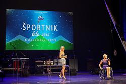 Mateja Pintar at Slovenian Sports personality of the year 2015 annual awards presented on the base of Slovenian sports reporters, on December 8, 2015 in Cankarjev dom, Ljubljana, Slovenia. Photo by Matic Klansek Velej / Sportida