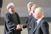 Vatican City jan 26th 2016, pope's audience to the president of Islamic Republic of Iran. In the picture Hassan Rouhani