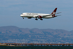 Boeing 787-9 Dreamliner (G-VZIG) operated by Virgin Atlantic landing at San Francisco International Airport (KSFO), San Francisco, California, United States of America