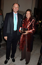 MR & MRS SIMON PARKER BOWLES at Carols from Chelsea in aid of the Institute of Cancer Research at the Royal Hospital Chapel, Chelsea, London on 1st December 2005.<br />