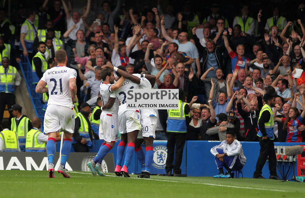 Bakary Sako and Crystal Palace celebrate During Chelsea vs Crystal Palace on Saturday the 29th August 2015
