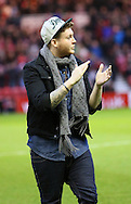 Picture by Paul Gaythorpe/Focus Images Ltd +447771 871632.26/12/2012.X Factor winner James Arthur before the npower Championship match between Middlesbrough and Blackburn Rovers during the npower Championship match at the Riverside Stadium, Middlesbrough.