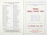 All Ireland Senior Hurling Championship Final,.07.09.1958, 09.07.1958, 7th September 1958,.Minor Galway v Limerick, .Senior Galway v Tipperary, Tipperary 4-09. Galway 2-05,..Advertisement, Rowan's Fulcrop Seeds, M. Rowan & Co. Ltd.,