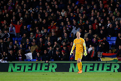 Joe Hart of Manchester City looks dejected after Crystal Palace win the match 2-1 - Photo mandatory by-line: Rogan Thomson/JMP - 07966 386802 - 06/04/2015 - SPORT - FOOTBALL - London, England - Selhurst Park - Crystal Palace v Manchester City - Barclays Premier League.