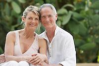 Affectionate Senior Couple in Garden