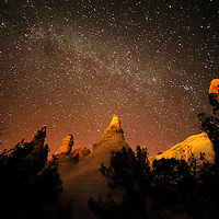 100213  Adron Gardner/Independent<br /> <br /> Starlight from the Milky Way galaxy illuminates the landscape at night near Churchock Wednesday.