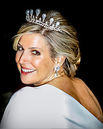 AMSTERDAM - Queen Maxima Dinner for the diplomatic corps at the Royal Palace, Amsterdam, The Netherlands - 09 Apr 2019<br /> copyrught robin utrecht