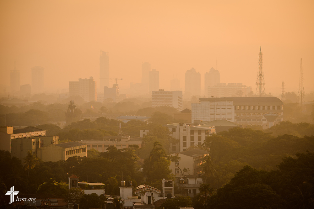 The sun rises Thursday, Jan. 18, 2018, in Colombo, Sri Lanka. LCMS Communications/ Erik M. Lunsford