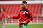 Bristol City defender Zak Vyner warms up during the Sky Bet Championship match between Nottingham Forest and Bristol City at the City Ground, Nottingham, England on 27 February 2016. Photo by Jon Hobley.