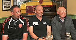 Westport United gathering 10 years On from the famous FAI Junior Cup win in 2005 Martin McGreal, Kevin Cusack and Sean McKenna.<br /> Pic Conor McKeown