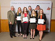 Pauline Osborne Agriculture Scholarship recipients, Dustin Kunkel, amy hesselgesser, emily hart, katie friederichs, clay daily, haley ashwood