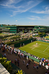 LONDON, ENGLAND - Wednesday, June 24, 2009: Philipp Kohlschreiber (GER) takes on Ivo Minar (CZE) during a Gentlemen's Singles 2nd Round match on day three of the Wimbledon Lawn Tennis Championships at the All England Lawn Tennis and Croquet Club. (Pic by David Rawcliffe/Propaganda)