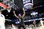 Green Bay forward Josh McNair (12) guards Xavier's Jason Carter (25) during an NCAA college basketball game against Xavier, Wednesday, Dec. 4, 2019, in Cincinnati. Xavier defeated Green Bay 84-71. (Jason Whitman/Image of Sport)