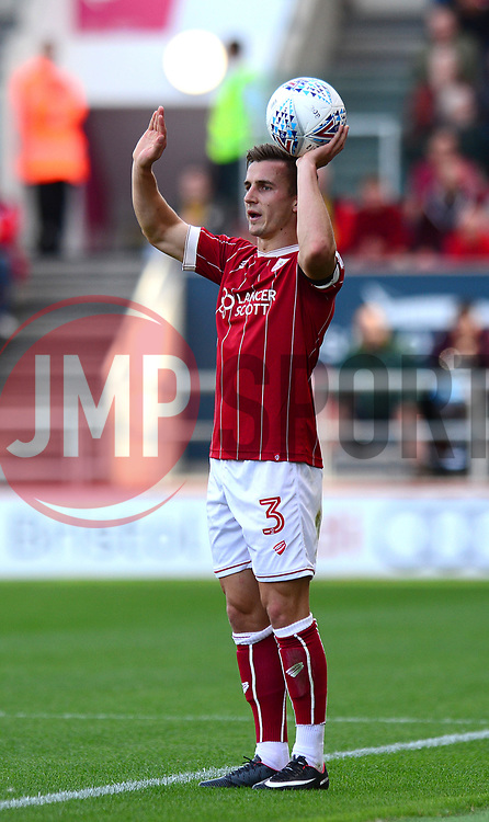 Joe Bryan of Bristol City prepares to take a throw in - Mandatory by-line: Dougie Allward/JMP - 19/08/2017 - FOOTBALL - Ashton Gate Stadium - Bristol, England - Bristol City v Millwall - Sky Bet Championship