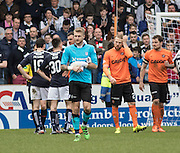 Dundee keeper Scott Bain heads for the dressing room after being red carded - Dundee United v Dundee in the Ladbrokes Premiership at Tannadice<br /> <br />  - &copy; David Young - www.davidyoungphoto.co.uk - email: davidyoungphoto@gmail.com