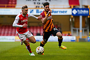 Bradford City defender Nat Knight-Percival (22) in action  during the EFL Sky Bet League 1 play off first leg match between Bradford City and Fleetwood Town at the Coral Windows Stadium, Bradford, England on 4 May 2017. Photo by Simon Davies.