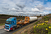 Delivery of a section of the tower for a new turbine