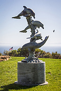 Marilyn Ryan Sunset Point Park Dolphin Sculpture in Rancho Palos Verde California