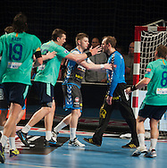 DK -  Copenhagen..20/04/12.Handball, Champions League 1/4 final, AGK Copenhagen vs FC Barcelona..21.300 spectators (Danish record) are watching the game on the national Arena, Parken (the Park)..Photo: Johnny Wichmann / billedbyroet