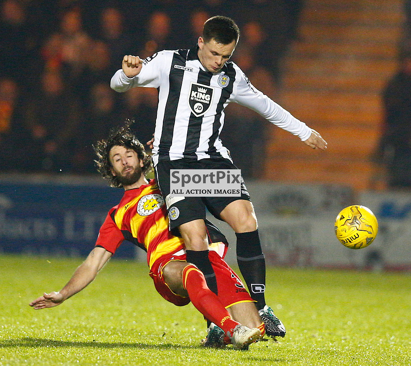 St.Mirren v Partick Thistle, Scottish Cup 4th round...Lawrence Shankland and Daniel Seaborne battle for the ball......(c) STEPHEN LAWSON | SportPix.org.uk