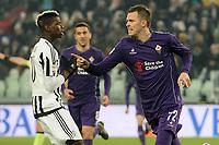 esultanza gol Josip Ilicic Fiorentina Goal celebration <br /> Torino 13-12-2015, Juventus Stadium, Football Calcio 2015/2016 Serie A, Juventus - Fiorentina, Foto Image Sport/Insidefoto