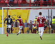12th August 2017, SuperSeal Stadium, Hamilton, Scotland; SL Football league Hamilton Academicals versus Dundee; Hamilton's Dougie Imrie scores his side's third from the penalty spot