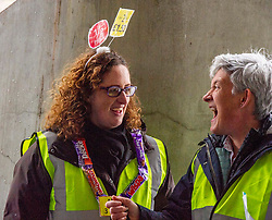 Pictured: Vickie Swailes (RSPB Scotland (grey hair)) and Lorraine Tulloch (Obesity Action )<br />