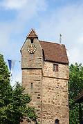 Pulverturm, Altstadt von Eberbach, Neckar, Baden-Württemberg, Deutschland | Powder Gate, Old Town of Eberbach, Neckar, Baden-Wurttemberg, Germany