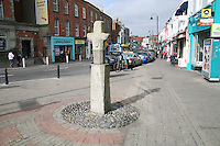 Stone cross sculpture in Blackrock Dublin Ireland