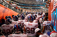 GLENDALE, AZ - FEBRUARY 3: The New York Giants team in the tunnel waiting to be introduced before Super Bowl XLII  against the New England Patriots on February 3, 2008 at University of Phoenix Stadium in Glendale, Arizona. The Giants defeated the Patriots  17-14. *** Local Caption ***