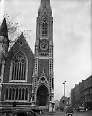 1957 - Exterior view of Findlater's Church on Parnell Square, Dublin