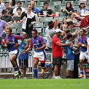 American Samoa's Talavalu enters the world sevens rugby stage for the very first time at the 2014 Hong Kong Sevens.  Photo by Barry Markowitz, 3/28/14, 3:06 pm