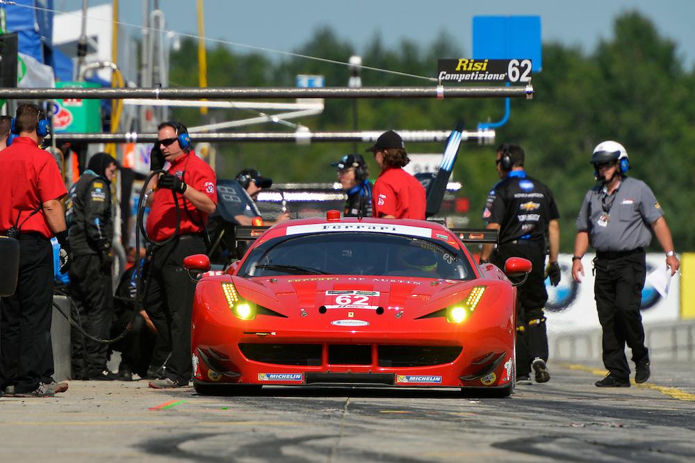 10-12 July 2015, Bowmanville, Ontario Canada<br /> 62, Ferrari, F458 Italia, GTLM, Pierre Kaffer, Giancarlo Fisichella<br /> &copy;2015 Scott R LePage <br /> LAT Photo USA